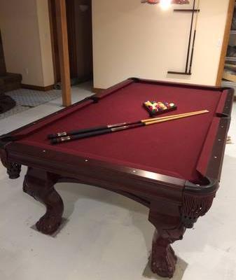 Solid Oak Billiard Table