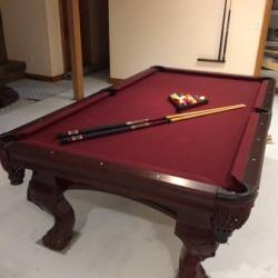 Solid Oak Billiard Table