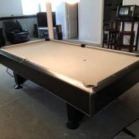 8' Gray And Black Pool Table